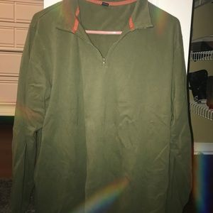Army Green Zip-Up
